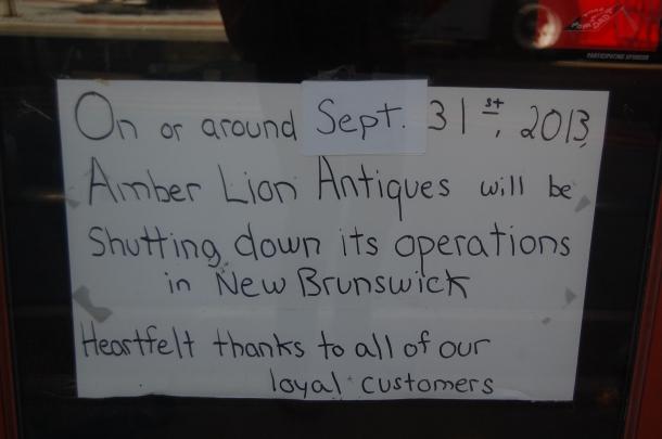 Amber Lion Closing Sign