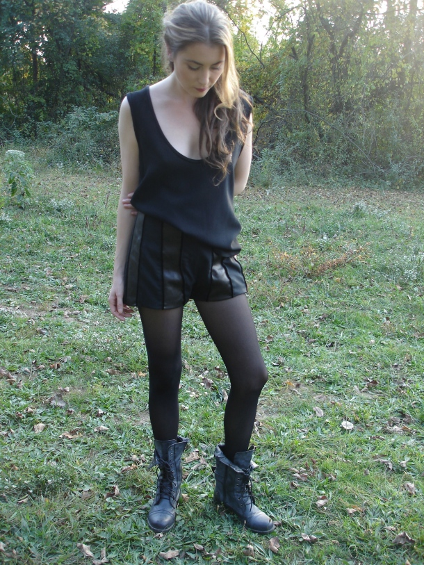 I'm obsessed with these leather paneled shorts.