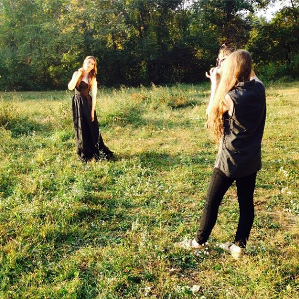 Lauren Nester shooting Kathryn's second look.