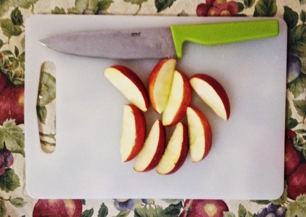 cut apples