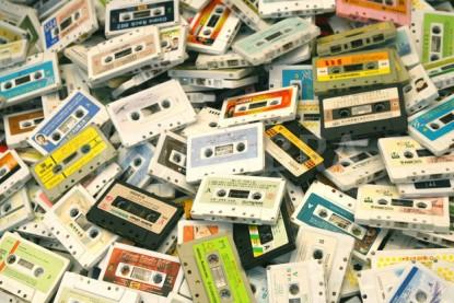 Pile of Audio Tape Cassettes